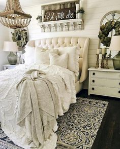Comfy Bedroom Design And Decor Ideas With Farmhouse Style