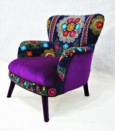 Mix fabric single seater sofa
