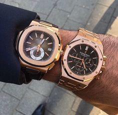Patek Philippe Nautilus & Audemars Piguet Royal Oak Chronograph