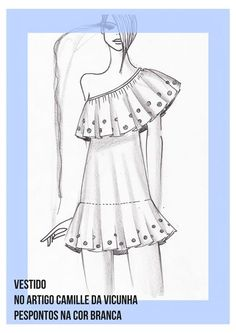 Scalloped-neckline tops Design By Adobe illustrator CC last part Fashion Figure Drawing, Fashion Drawing Dresses, Fashion Illustration Dresses, Dress Illustration, Women's Fashion Dresses, Fashion Design Sketchbook, Fashion Design Drawings, Fashion Sketches, Dress Design Drawing