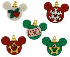 Jesse James Buttons  Dress It Up  DISNEY MICKEY ORNAMENTS   Christmas Sew Craft #JesseJames