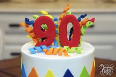 90th birthday cake | 90th Birthday Cake | Flickr - Photo Sharing! 90th Birthday Cakes, White Buttercream, Pineapple Upside Down Cake, Pecan, Vanilla Cake, Brown Sugar, Fondant, Desserts, Food