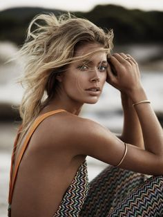 UK VOGUE JANUARY 2013    Castaway  Model: Doutzen Kroes  Photographer: Josh Olins  Stylist: Claire Richardson