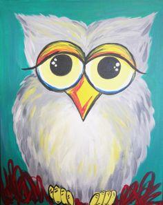 Hooty Owl | Pinot's Palette Estero December 20 Class