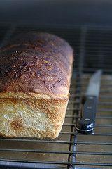 Homemade cinnamon bread.