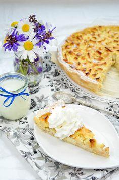schnelle Apfeltarte mit Marzipan und Vanille Marzipan, Ethnic Recipes, Food, Play Dough, Oven, Food Food, Essen, Meals, Yemek