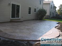 e Patio Pictures Backyard Projects, Outdoor Projects, Backyard Patio, Patio Pictures, Backyard Renovations, Cement Patio, Patio Flooring, Stamped Concrete, Backyard Makeover