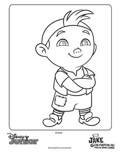 Jake And The Never Land Pirates Coloring Pages Sheets Cubby