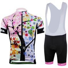 da9793d3d New 2015 Spring Summer Cycling Jerseys women leaves  amp  flowers short  sleeve women s cycling clothing