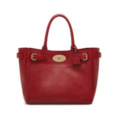 05be3ad102b Mulberry - Bayswater Tote in Poppy Red Natural Leather Red Purses, Natural  Leather, Poppy