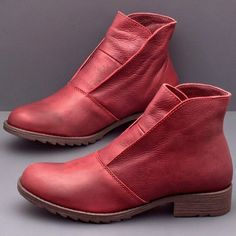 Upper Material Of Shoes:PU Lining Material:PU Upper Material:Leather Pattern Type:Plain Heel Height:Flat Boot Height:Ankle Material:PU Low Heel Ankle Boots, Flat Boots, Low Heels, Women's Boots, Cowboy Boots, Brown Booties, Brown Ankle Boots, Leather Boots, Pu Leather
