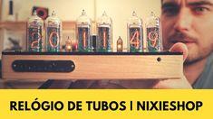 O primeiro relógio de tubos de Nixie num canal YouTube em Portugal! A peça mais incrível e exclusiva que já nos passou pelas mãos! Intemporal... À NixieShop.com, o nosso obrigado!  #jomotech #jomotechblog #nixieshop #nixieclock #nixietubeclock #nixietube #nixie #clock #tube #unique #history#device #technology #time #modern #home #style #travellers #nixieclock #nixietube #nixietubeclock #nixieshop Nixie Tube, Device, Voss Bottle, Water Bottle, Portugal, Drinks, Youtube, Home, Wood Clocks