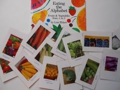 Farmers' Market Cards- Use seed catalogs to make fruit/vegetable cards-- great way to use real photographs for flashcards & can be used to add literature to dramatic play.