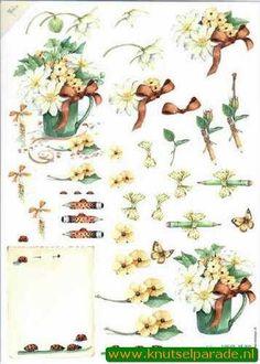 Mattie Cut out sheet flowers nr. MB 0079 - Flowers