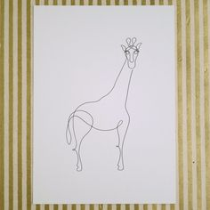 Continuous Line Drawing Giraffe print // Riley Writes Scout