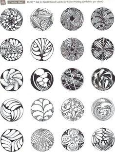 Bildergebnis für Circle Zentangle Patterns Step by Step Mandala Doodle, Mandala Art, Doodle Art, Zentangle Drawings, Doodles Zentangles, Art Drawings, Doodle Patterns, Zentangle Patterns, Feather Pattern