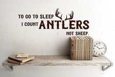 Rustic nursery Decor Deer Antler Decals To go to by HouseHoldWords