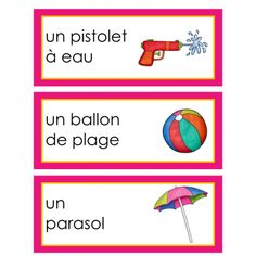 Vocabulaire été French Practice, Teaching Materials, Teaching Ideas, Learn Another Language, French Classroom, French Immersion, French Language Learning, Teaching French, Learning Environments
