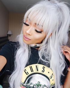 The important factor is the type of hair extensions available. You can have synthetics or human and natural hair. White Hair, Pink Hair, Nyane Lebajoa, Pelo Multicolor, Natural Hair Styles, Long Hair Styles, Afro Punk, Hair Inspo, Cute Hairstyles