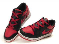 new concept 09f2e 4836c New Air Jordan 1 Low Black Varsity Red Shoes