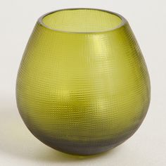 Woah this is a wine glass... not a candle holder lol. Cross Roly Poly Matte Peridot by Thomas Fuchs Creative