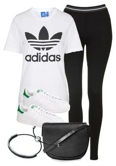 """""""Style #9929"""" by vany-alvarado ❤ liked on Polyvore featuring Topshop, adidas and Links of London"""