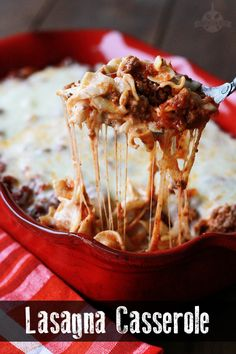Lasagna Casserole (made with egg noodles)