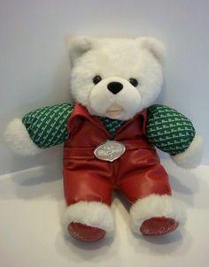 Elvis Presley Blue Christmas Song Singing White Plush Teddy Bear Autograph Fan
