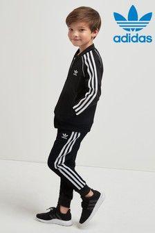 Black adidas Originals Little Kids Superstar Tracksuit