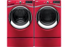 5.0 Cu. Ft. Duet® High-Efficiency Front-Load Washer with 7.4 Cu. Ft. Duet® Electric Steam Dryer - Cranberry $2,299.94 - the brick