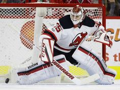 New Jersey Devils goalie Cory Schneider (35) defends the goal during the first period of an NHL hockey game against the Carolina Hurricanes in Raleigh, N.C., Tuesday, Jan. 3, 2017. Photo: Gerry Broome, AP / Copyright 2017 The Associated Press. All rights reserved.