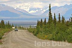 My favorite gravel road, even after three flat tires.  Denali Highway, Alaska