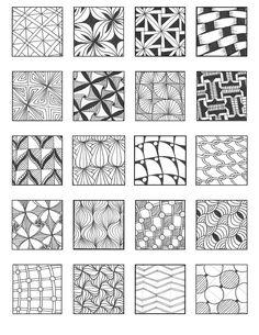 Manga Drawing Patterns Zentangle et monogramme Doodle Art, Doodle Drawing, Tangle Doodle, Zentangle Drawings, Doodles Zentangles, Zen Doodle, Manga Drawing, Zantangle Art, Zen Art