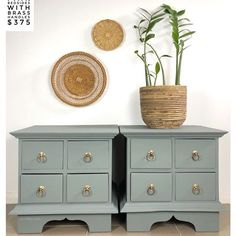 Claire aka The Shabby Chick® ( Bedside, Green And Grey, Painted Furniture, Drawers, Shabby, Cabinet, Storage, Claire, Projects