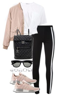 """Untitled #3988"" by theeuropeancloset ❤ liked on Polyvore featuring Y-3, T By Alexander Wang, Chanel, Yves Saint Laurent and GUESS"