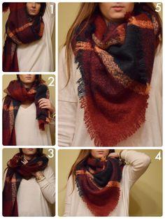 how to wear big scarf - Hľadať Googlom