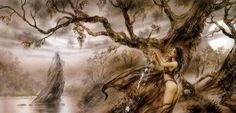 Risultati immagini per luis royo gallery Dark Paintings, Buy Paintings, Russian Painting, Russian Art, Fantasy Women, Dark Fantasy, Painting Gallery, Art Gallery, Earth Sketch