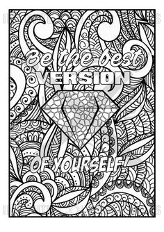 Be The Best Version Of You Motivational Quote Coloring Page