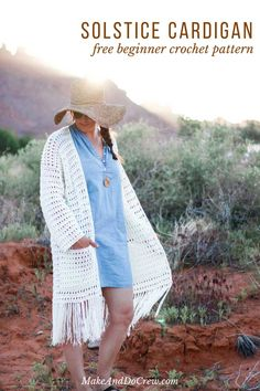 Easy Crochet Long Cardigan – Free (Very Easy!) Boho Pattern Easy Crochet Long Cardigan – Free (Very Easy! Boho Crochet Patterns, Crochet Cardigan Pattern, Modern Crochet, Crochet Jacket, Easy Crochet, Free Crochet, Knit Crochet, Crochet Ideas, Crochet Sweaters