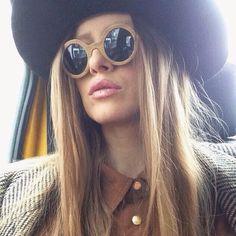 Iulia Albu Round Sunglasses, Sunglasses Women, Celebrity Singers, Rocks, Characters, Artists, Actors, Models, Celebrities