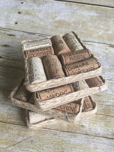 Set of 4 wine cork coasters from Astoria Cork & Craft on Etsy