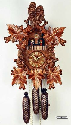 Cuckoo Clock 8-day-movement Carved-Style 50cm by Rombach & Haas - 4560