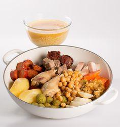 Receta de cocido madrileño con todos los ingredientes : Samantha Vallejo-Nágera