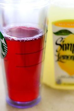 Copy Cat Starbuck's Iced Passion Tea Lemonade