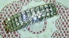 Silver Tone Rhinestone/Diamante Extending Bracelet by PinkPicot, £15.00 #pcfteam