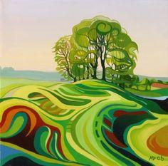 The Guardians. Avebury landscape.    by Anna Dillon.