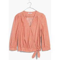 328e1971078d MADEWELL Wrap Shirt in Star Scatter ( 75) ❤ liked on Polyvore featuring  tops