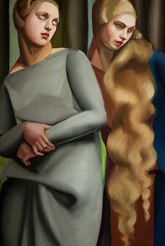 Tamara de Lempicka - Irene and Her Sister (detail), 1925