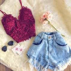 Short Outfits, Chic Outfits, Trendy Outfits, Summer Outfits, Fashion Outfits, Teen Fashion, Love Fashion, Fashion Looks, Womens Fashion