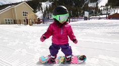 Onboard Magazine's post of Keystone Resort's Burton Riglet Park with little rider Aspen, is a cute reminder that kids can snowboard!